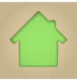 House cut out of cardboard vector image