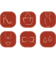 Icons with female fashion accessories vector image
