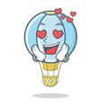 in love air balloon character cartoon vector image