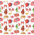 internal human organs with funny smiles vector image vector image