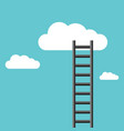 ladder leading to cloud vector image