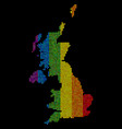 lgbt dotted united kingdom map vector image