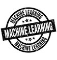 machine learning round grunge black stamp vector image vector image