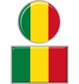 Malian round and square icon flag vector image vector image