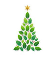 merry christmas card with graphic christmas tree vector image vector image