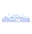 naples skyline italy city buildings vector image vector image