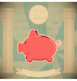 Pink piggy bank vector