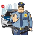 Police patrol stop sign vector image vector image