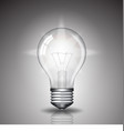 realistic bulb with light vector image