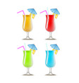realistic detailed 3d cocktail drink party vector image