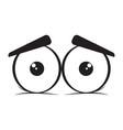 sad eyes cartoon vector image