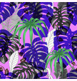 seamless vivid pattern with tropical banana palm vector image vector image