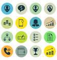 set of 16 hr icons includes pin employee coins vector image vector image