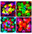 Set of 4 seamless patterns The abstract colourful vector image