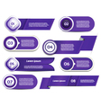 Set of blue-violet progress version step icons vector image vector image