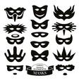 Set of different masks vector image