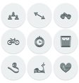 Set of light icons on round fitness Fashionable vector image