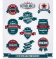Set of vintage retro labels calligraphic elements vector image vector image