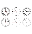 Set watch isolated on a white background vector image vector image