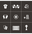 Soccer icon set vector image vector image