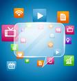 social media concept design vector image vector image