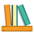 stack of books icon cartoon style vector image vector image
