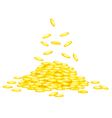 Stack of golden coins vector image vector image