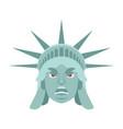 statue of liberty angry emoji us landmark statue vector image vector image