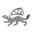 stylized running ermine with black celtic vector image vector image