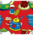 tea cake pattern vector image