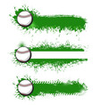 tennis game tournament banners vector image vector image