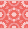 tile decorative floor tiles pink pattern vector image vector image