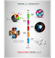 timeline with infographics design elements vector image