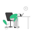 tired or boring businessman lying on laptop vector image vector image