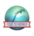 tour to norway vector image vector image