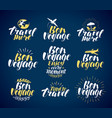 travel label set journey vacation icons vector image
