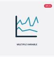 two color multiple variable lines icon from user vector image vector image