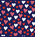valentine navy and red love hearts vector image vector image