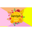 valentines day sale banner hearts yellow rose vector image vector image