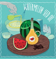 watermelon seed oil used for cooking vector image vector image