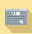web banking icon flat style vector image vector image