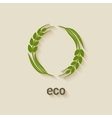wheat eco symbol vector image