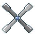 wheel brace icon cartoon style vector image vector image