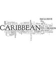 when to get cheap deals in the caribbean text vector image vector image