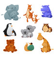 wild animals and their young baby vector image