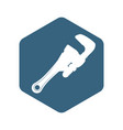 wrench tool adjustable vector image