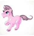 Pink fabulous unicorn vector image