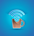 3d icon paper Internet Cafe with shadow effect on vector image