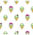 Green duck head baby pattern vector image
