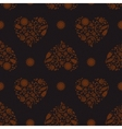 Background with Heartshape Floral Pattern vector image